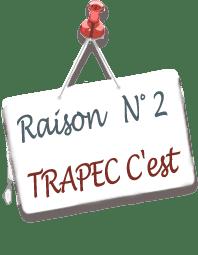 Panneau annonçant la raison N°2 d'adopter la méthode TRAPEC