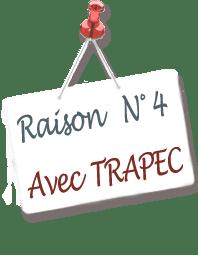 Panneau annonçant la raison N°4 d'adopter la méthode TRAPEC